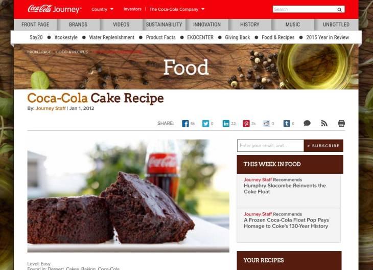 Coca Cola Cake Recipe